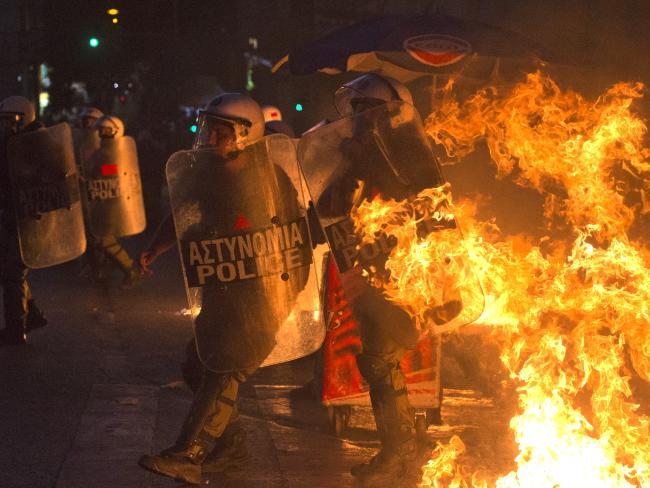 Greece debt riots